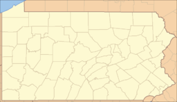 Location of Warriors Path State Park in Pennsylvania
