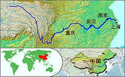 长江流域图