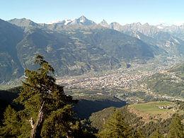 Panorama della città da Saint-Christophe