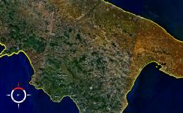 La Basilicata vista dal satellite