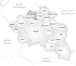Dägerlen – Mappa