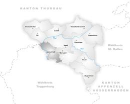 Jonschwil – Mappa