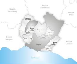 Losanna – Mappa