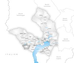 Palagnèdra – Mappa