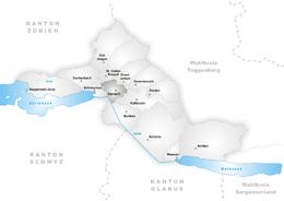 Uznach – Mappa