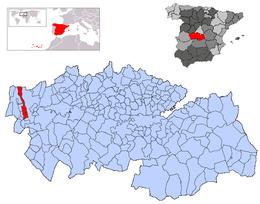 Lagartera – Mappa