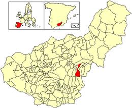 Aldeire – Mappa