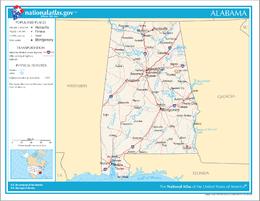 Alabama – Mappa