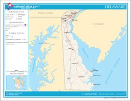 Delaware – Mappa
