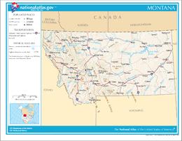 Montana – Mappa