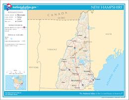 New Hampshire – Mappa