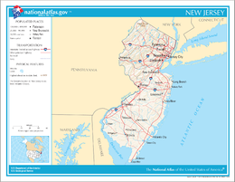 New Jersey – Mappa