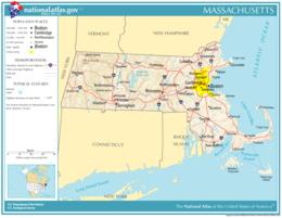Massachusetts – Mappa
