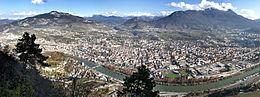 Panorama della città dalla frazione di Sardagna