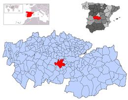 Polán – Mappa