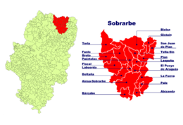 Puértolas – Mappa