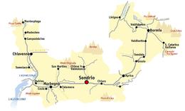 Provincia di Sondrio – Mappa