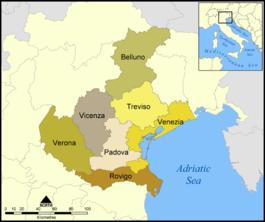 Mappa provinciale del Veneto