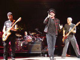 U2 koncertují v Madison Square Garden, listopad 2005