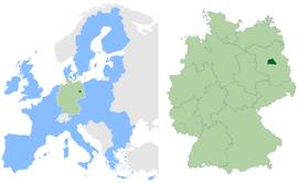 在欧洲联盟以及德意志聯邦共和國中的位置