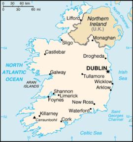 Kart over Irland