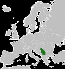 Localizarea Serbiei