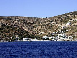 Megalo Chorio, main harbor of Agathonisi