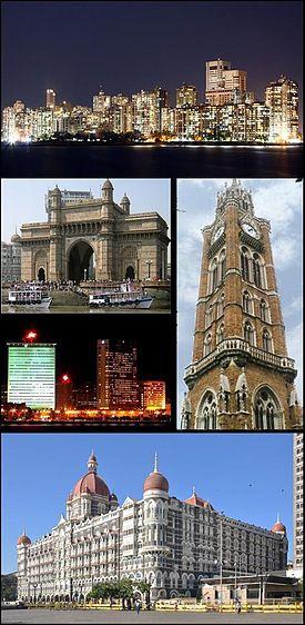 Principais símbolos de Mumbai.