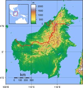 Mappa di Borneo