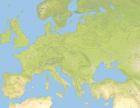 Gran Bretagna è posizionata in Europa