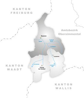 Karte von Gstaad