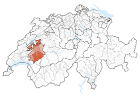 Lage des Kantons in der Schweiz
