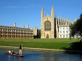 劍橋大學國王學院的小禮拜堂的天際線