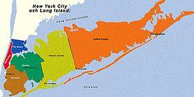 Mappa di Long Island