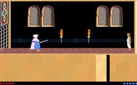 Il Principe nella versione MS-DOS del gioco del 1989 (sulla destra)