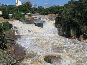 Cachoeira no rio Tietê