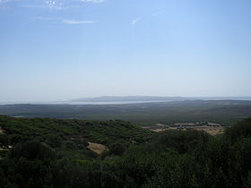 Vista di Sant'Antioco dal monte Sirai.