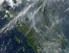 Sumatra vista da un satellite artificiale, 2002