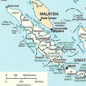 Mappa di Sumatra