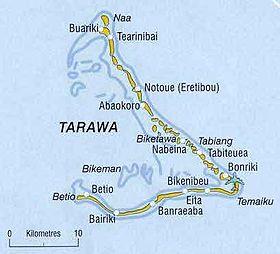 Mappa di Tarawa