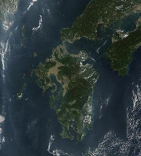 九州衛星圖