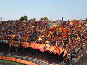 Lecce fans in Curva Nord