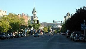 Vedere panoramică spre Baker City, Oregon