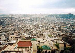 Vedere panoramică spre Fès