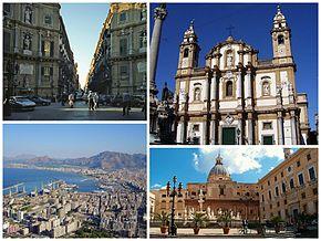 Vedere panoramică spre Palermo