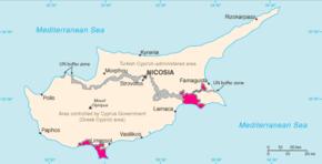 Poloha Akrotiri a Dhekelia