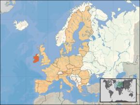 Poloha Irska