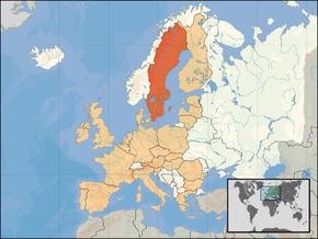Kart over Konungariket Sverige