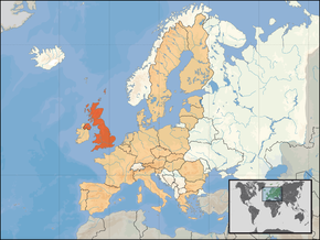 Poloha Spojeného království Velké Británie a Severního Irska