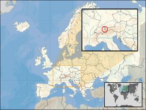 Poloha Lichtenštejnska